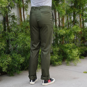 Wilhelm Athletic Chino Jungle Poplin Olive