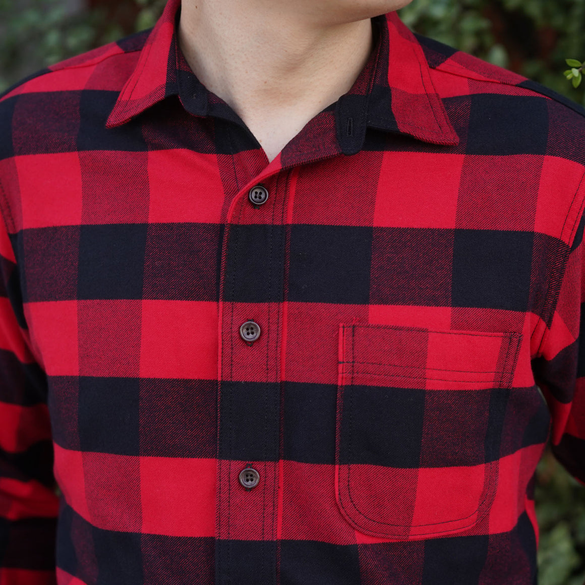 Chainstitch Shirt Somelos Flannel Red & Black Lumberjack