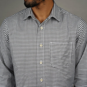 Chainstitch Shirt Thomas Mason Antique Iron Gingham