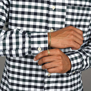 Chainstitch Shirt Thomas Mason Hunter Green & Navy Buffalo Check