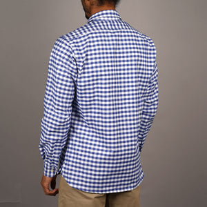 Chainstitch Shirt Royal Blue Buffalo Check