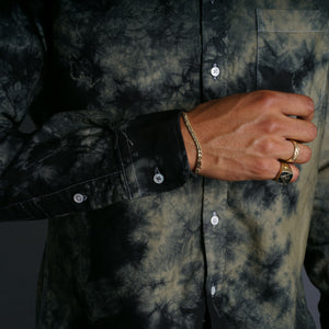 Crystal Wash Midnight Ivy Hand-Dyed Oxford Shirt