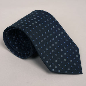 Necktie in Midnight Stars Wool-Cotton