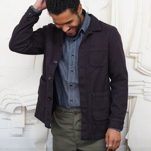 Doyle Jacket Sashiko Mink Brown