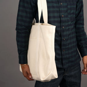 Tote Bag 21oz Heavyweight Sashiko Natural Undyed