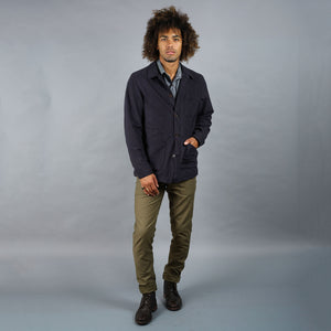 Doyle Jacket Midweight Navy Sueded Flannel