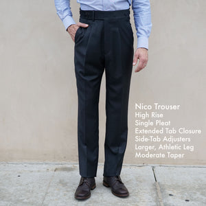 Made To Order Trousers Vitale Barberis Super 130s Wool Flannels
