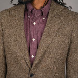 Nuovo Unconstructed Sportcoat in Di Pray Walnut Donegal Tweed