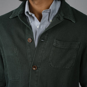 Doyle Jacket Pumice Washed Sashiko Military Olive