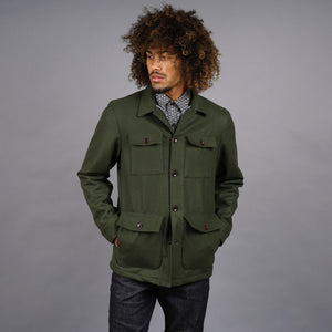 Fatigue Jacket in Loden Wool Melton