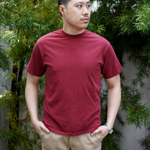 Extra Heavyweight T-Shirt Short Sleeve in Oxblood