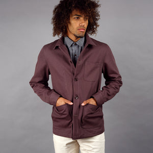 Doyle Jacket 11oz Port Wine Basketweave Canvas
