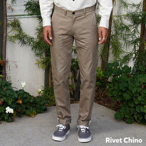 Made to Order Rivet & Wilhelm Chino in Yoshiwa Crosscut Pique & Brisbane Moss Twill