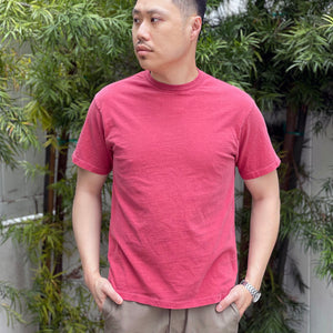 Heavyweight T-Shirt in Nantucket Red Enzyme Wash