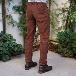 Rivet Chino in Chestnut Corduroy