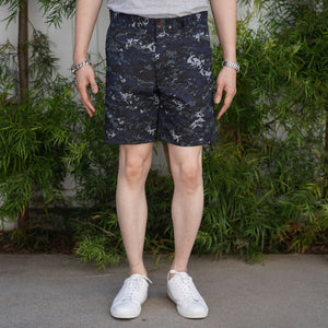 Rivet Chino Short Navy Digicam Ripstop