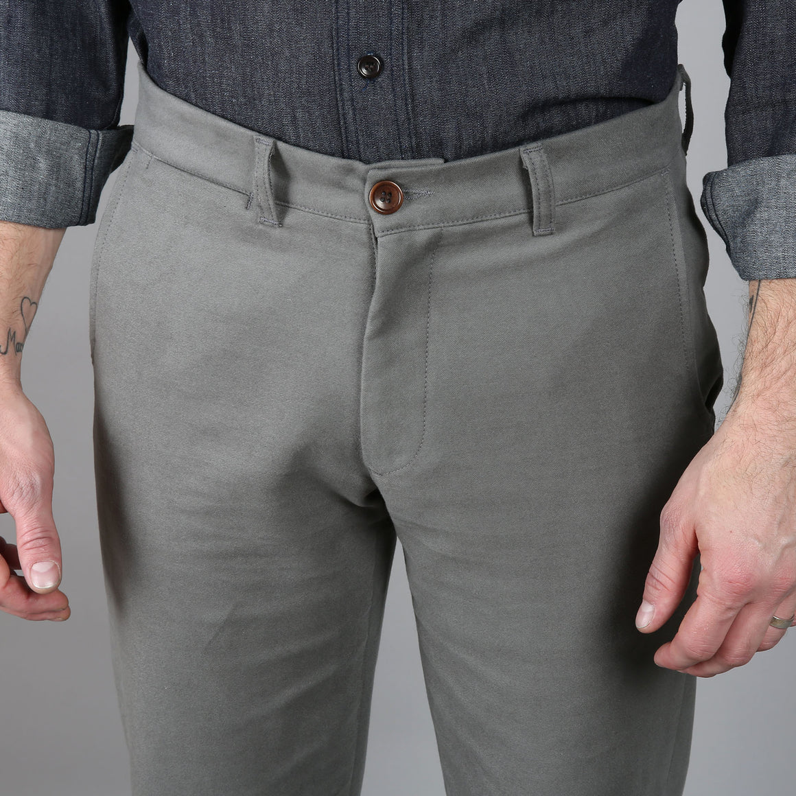 Rivet Chino Brushed Sage Twill