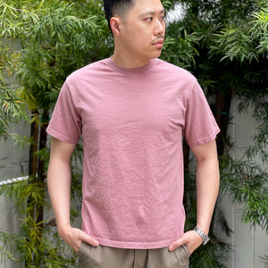 Heavyweight T-Shirt in Dusty Rose Enzyme Wash