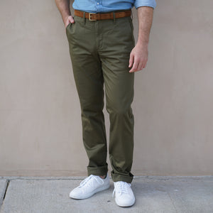 Sandow Athletic Chino Performance Stretch Cotton Olive