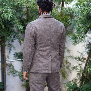 Sinclair Sportcoat Woolrich Sandy Chestnut Donegal Tweed