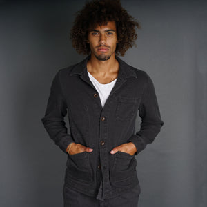 Doyle Jacket Pumice Washed Sashiko Gunmetal