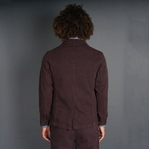 Doyle Jacket Pumice Washed Sashiko Raisin