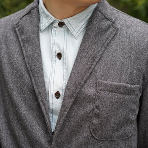 Sinclair Sportcoat Magee Grey Ghost Donegal Tweed