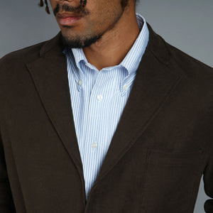 Sinclair Sportcoat in Brisbane Moss Chocolate Moleskin