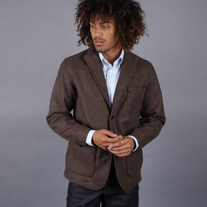 Sinclair Sportcoat in Woolrich Marled Hickory Tweed