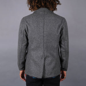 Sinclair Sportcoat in 18oz Kodiak Grey Wool Melton