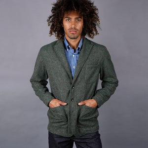 Sinclair Sportcoat in Woolrich Loden Donegal Tweed