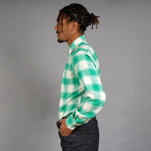 Spearmint Cream Flannel Shirt