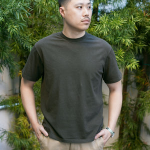 Heavyweight T-Shirt Short Sleeve in Steel Moss