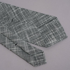 Necktie in Loro Piana Stormcloud Streaky Wool-Silk-Linen