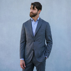 Made To Order Suiting Vitale Barberis Four Season Checked & Striped Wools