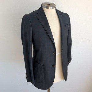 Sample Sale: 2-piece Suit Drago Super 130s Bluecast Static Weave, Dartmouth Size 37 & Rudy Size 34