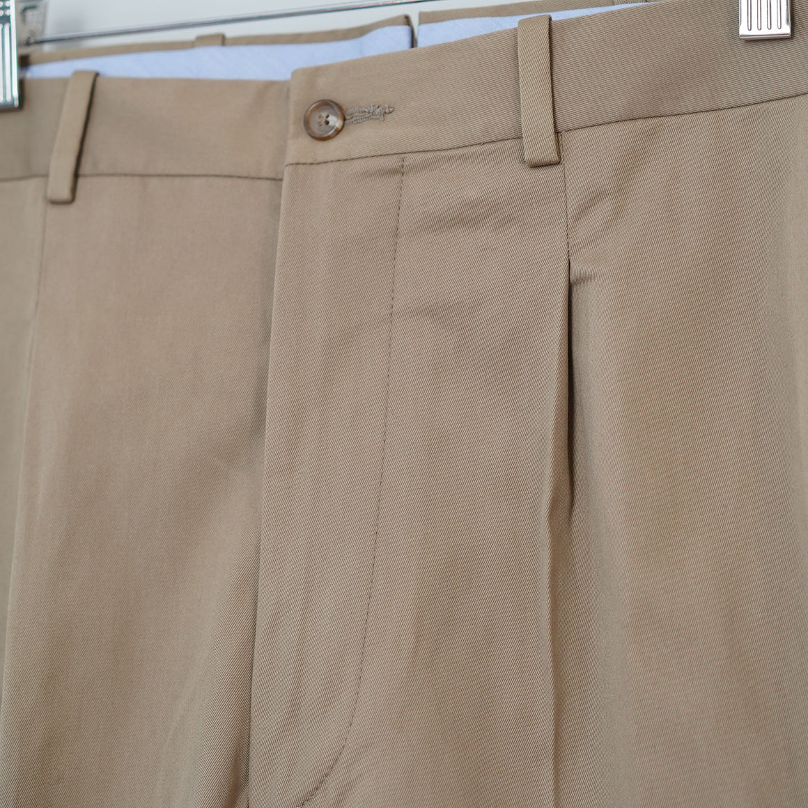 Sample Sale: Taylor Trouser in Khaki British Cotton, Size 35
