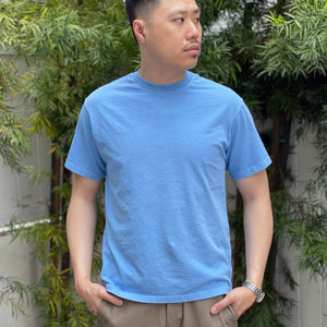 Heavyweight T-Shirt in Sky Blue Enzyme Wash