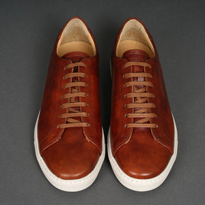 Tennis Trainer Golden Brown Museum Calf
