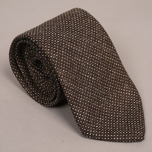 Necktie in Robert Noble Tobacco Basketweave Tweed