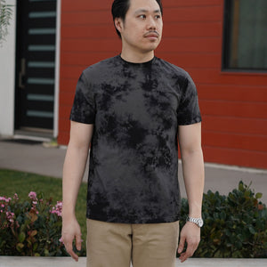Organic T-Shirt Short Sleeve in Dark Crystal Dye