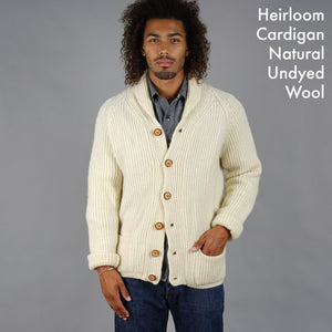 Heirloom Hand-Dyed & Natural Wool Cardigan Project