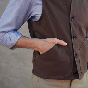 Sierra Vest 12oz Walnut Duck Canvas