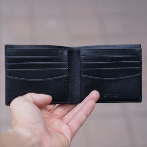 Billfold Wallet Black Saffiano Leather
