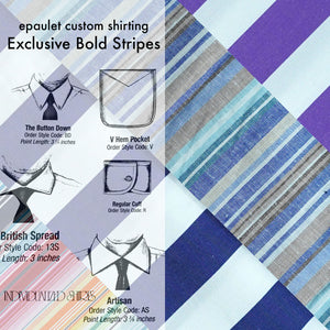 Made To Order Bold Stripes Exclusive Shirting