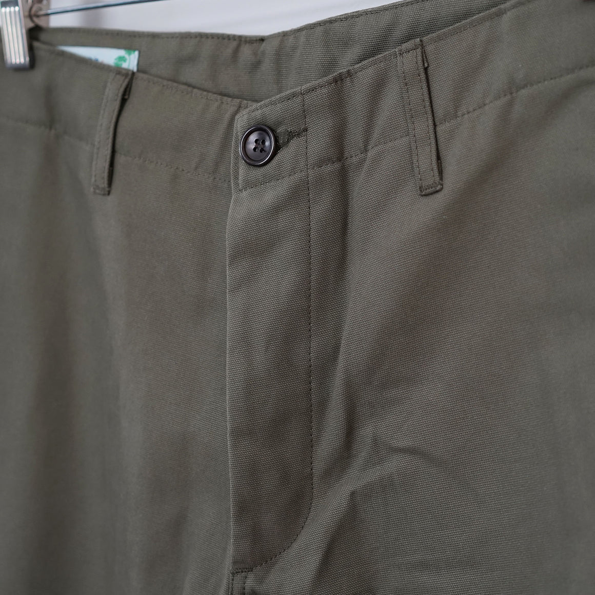 Sample Sale: Rivet Military Chino in 8oz Olive Canvas Size 34