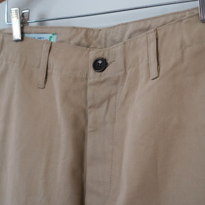 Sample Sale: Rivet Military Chino in 8oz Khaki Canvas Size 34