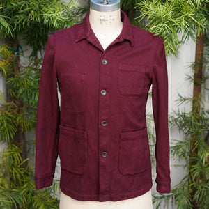 Sample Sale: Merlot Sashiko Doyle with Pocket Damage Size 40