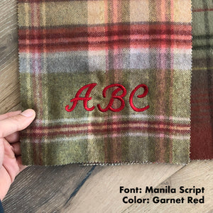 Scottish Genuine Lambswool Double-Faced Blanket Pre-Order