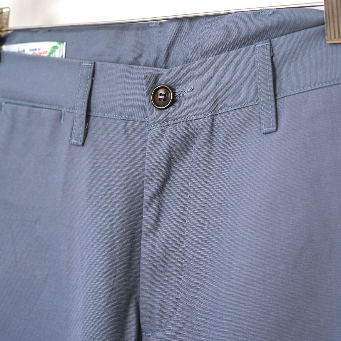Sample Sale: Rivet Chino in 8oz Slate Blue Canvas Size 34